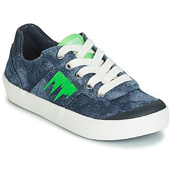 kengät Pojat Matalavartiset tennarit Geox J KILWI BOY Blue / Green