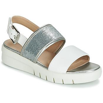 kengät Naiset Sandaalit ja avokkaat Geox WIMBLEY SAND Valkoinen