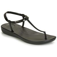 kengät Naiset Varvassandaalit FitFlop IQUSHION SPLASH - PEARLISED Musta
