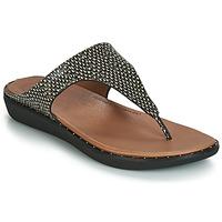 kengät Naiset Sandaalit ja avokkaat FitFlop BANDA II DOTTED-SNAKE Luonto