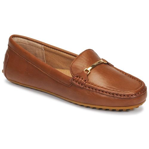 kengät Naiset Mokkasiinit Lauren Ralph Lauren BRIONY Konjakki