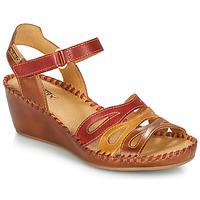kengät Naiset Sandaalit ja avokkaat Pikolinos MARGARITA 943 Red / Brown