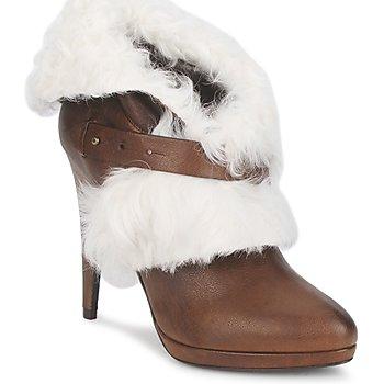 kengät Naiset Nilkkurit Roberto Cavalli QPS586-PJ027 Brown / White
