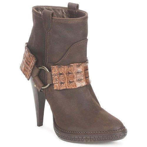 kengät Naiset Nilkkurit Roberto Cavalli QPS577-PK206 Brown