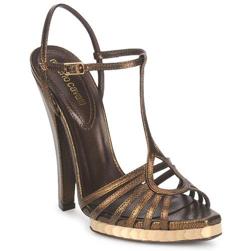 kengät Naiset Sandaalit ja avokkaat Roberto Cavalli QDS627-PM027 Bronze