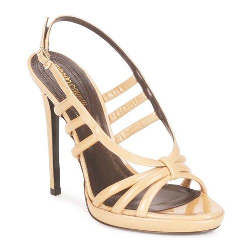 kengät Naiset Sandaalit ja avokkaat Roberto Cavalli QDS626-PL028 Beige