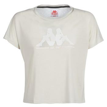 vaatteet Naiset Lyhythihainen t-paita Kappa YERRI Beige / Grey