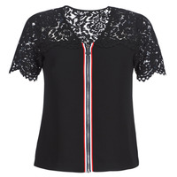 vaatteet Naiset Topit / Puserot Morgan OSALI Musta
