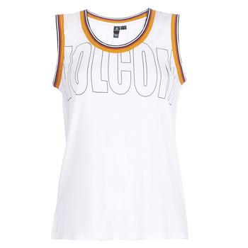 vaatteet Naiset Hihattomat paidat / Hihattomat t-paidat Volcom IVOL TANK White
