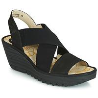 kengät Naiset Korkokengät Fly London YAJI Black