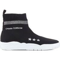 kengät Naiset Korkeavartiset tennarit Chiara Ferragni CF1948 BLACK nero