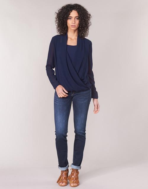 vaatteet Naiset Suorat farkut Le Temps des Cerises PULP REGULAR Sininen