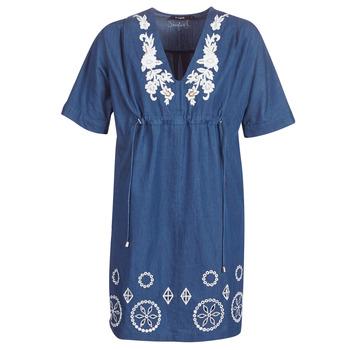 vaatteet Naiset Lyhyt mekko Desigual ELECTRA Laivastonsininen