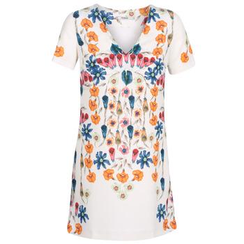 vaatteet Naiset Lyhyt mekko Desigual CORK White