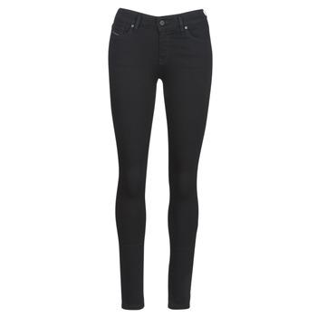 vaatteet Naiset Slim-farkut Diesel SLANDY Black / 069ef