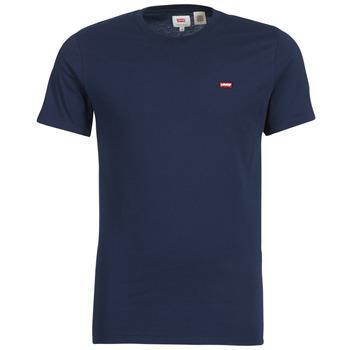 vaatteet Miehet Lyhythihainen t-paita Levi's SS ORIGINAL HM TEE Laivastonsininen
