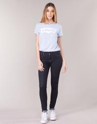 vaatteet Naiset Skinny-farkut Levi's 721 HIGH RISE SKINNY Ruosteenvärinen / Nine