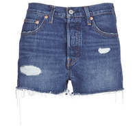 vaatteet Naiset Shortsit / Bermuda-shortsit Levi's 502 HIGH RISE SHORT Blue