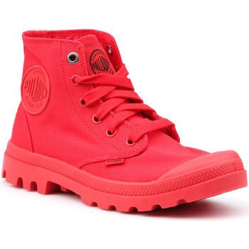 kengät Naiset Korkeavartiset tennarit Palladium Manufacture Mono Chrome 73089-600-M red
