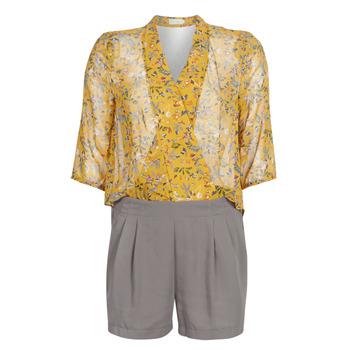 vaatteet Naiset Jumpsuits / Haalarit See U Soon GARAGALE Yellow / Kaki