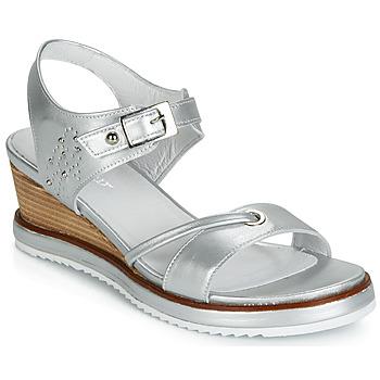 kengät Naiset Sandaalit ja avokkaat Regard RAXALI V3 ECLAT ARGENT Hopea