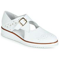 kengät Naiset Derby-kengät Regard RIXALO V1 NAPPA BLANC Valkoinen