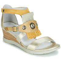 kengät Naiset Sandaalit ja avokkaat Regard RUBIKA V3 VEL JAUNE Yellow