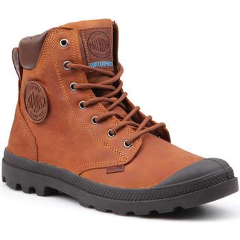 kengät Miehet Bootsit Palladium Pampa Cuff WP Lux 73231-733-M brown