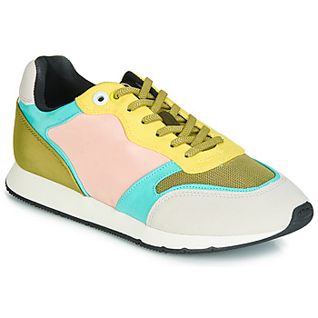 kengät Naiset Matalavartiset tennarit MTNG HANNA Vaaleanpunainen / Keltainen / Turkoosi