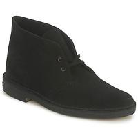 kengät Miehet Bootsit Clarks DESERT BOOT Black