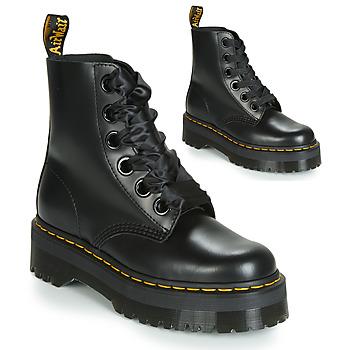 kengät Naiset Bootsit Dr Martens Molly Musta