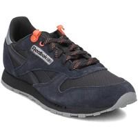 kengät Lapset Matalavartiset tennarit Reebok Sport Classic Leather Mustat