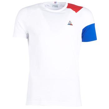 vaatteet Miehet Lyhythihainen t-paita Le Coq Sportif ESS Tee SS N°10 M White / Red / Blue
