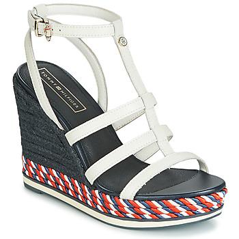 kengät Naiset Sandaalit ja avokkaat Tommy Hilfiger VANCOUVER 7A White