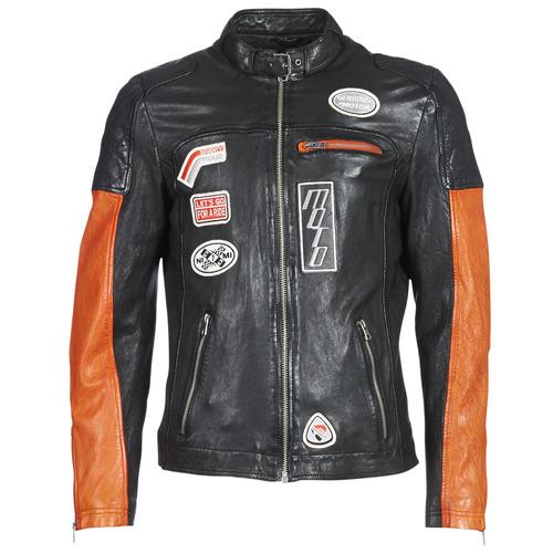 vaatteet Miehet Nahkatakit / Tekonahkatakit Oakwood INDIE Black / Orange