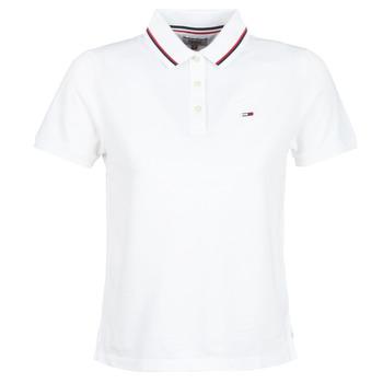 vaatteet Naiset Lyhythihainen poolopaita Tommy Jeans TJW TOMMY CLASSICS POLO White