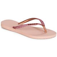 kengät Naiset Varvassandaalit Havaianas SLIM GLITTER Vaaleanpunainen