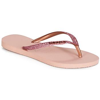 kengät Naiset Varvassandaalit Havaianas SLIM GLITTER Pink