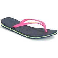 kengät Naiset Varvassandaalit Havaianas SLIM BRASIL LOGO Sininen / Pinkki