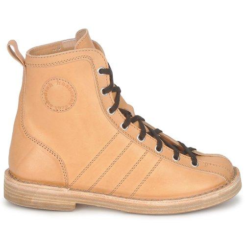 Swedish Hasbeens Vintage Bowling Boot Beige - Ilmainen Toimitus- Kengät Bootsit Naiset 239