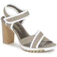 kengät Naiset Sandaalit ja avokkaat Espace GENIEVRE Grey / White