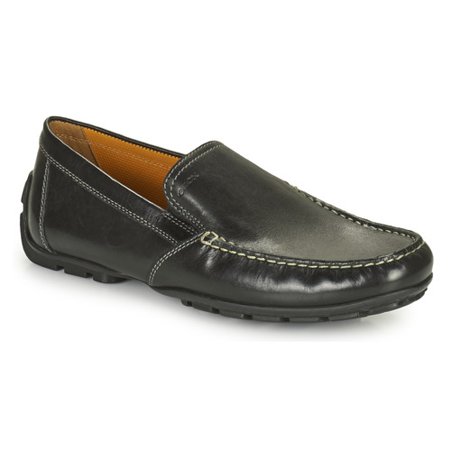 kengät Miehet Mokkasiinit Geox MONET Musta