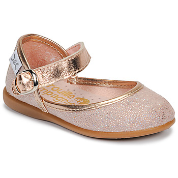 kengät Tytöt Balleriinat Citrouille et Compagnie JARITO Vaaleanpunainen / Pronssi