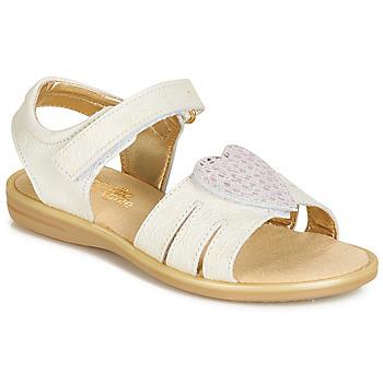 kengät Tytöt Sandaalit ja avokkaat Citrouille et Compagnie JAFILOUTE White