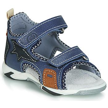 kengät Pojat Sandaalit ja avokkaat Citrouille et Compagnie JATILEME Blue / Clair