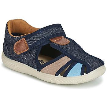 kengät Pojat Sandaalit ja avokkaat Citrouille et Compagnie JOLIETTE Farkku / Blue / Beige