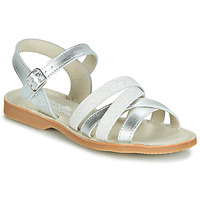 kengät Tytöt Sandaalit ja avokkaat Citrouille et Compagnie JAGUINOIX Grey / Hopea