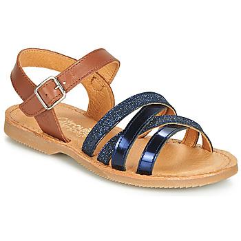 new style 1458a 10bac kengät Tytöt Sandaalit ja avokkaat Citrouille et Compagnie JOLICOTE  Laivastonsininen   Camel