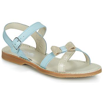 kengät Tytöt Sandaalit ja avokkaat Citrouille et Compagnie JISCOTTE Blue / Clair
