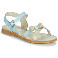 kengät Tytöt Sandaalit ja avokkaat Citrouille et Compagnie JISCOTTE Sininen / Clear